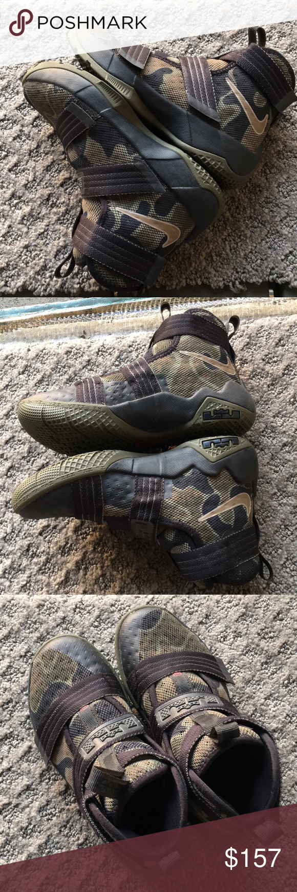 finest selection 43c4a c4c2b Brand New Nike LeBron Zoom Soldier 10 Camo Brand New Jordan s Size  13C  Style