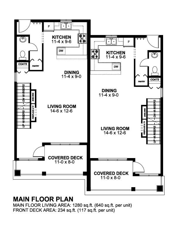 Plan No 195226 House Plans By Westhomeplanners Com Duplex House Plans House Plans Garage House Plans