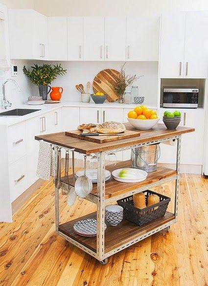Ideas Para Colocar Una Isla En Cocinas Pequenas Islas De Cocina Muebles De Cocina Cocinas