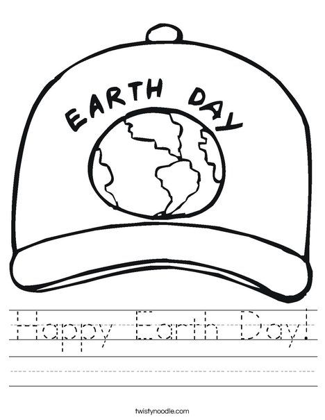 Happy Earth Day Worksheet - Twisty Noodle   APRIL♻ EARTH DAY ...