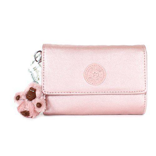 660c59497 Kipling Pixi GM Medium Wallet, Icy Rose Metallic Estojos Bonitos, Carteira  Kipling, Bolsas
