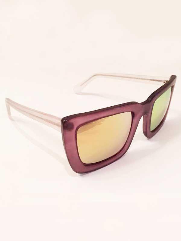 Óculos CP Collection modelo Square – roxo/amarelo   Chris Pitanguy