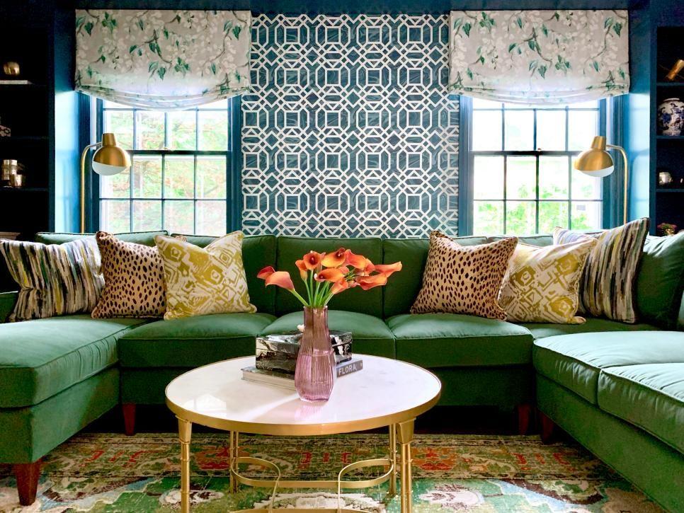 Top Living Room Color Palettes We Re Loving Right Now Living Room Color Color Palette Living Room Green Sofa Living Room