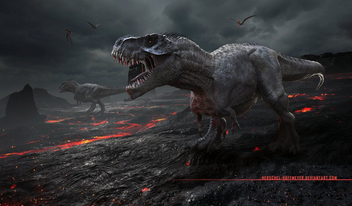 Amazing dinosaur art. Extinction by Herschel-Hoffmeyer on DeviantArt