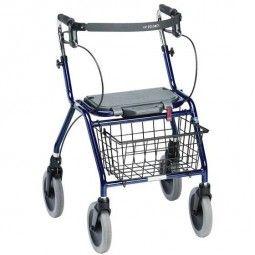 Invacare andador para ancianos azul con ruedas, frenos y asiento abatible  #ortopedia #orthopedia #walkers #mobilitywalkers #andadores #adultos #mayores #terceraedad #salud #health #ortopediaplus