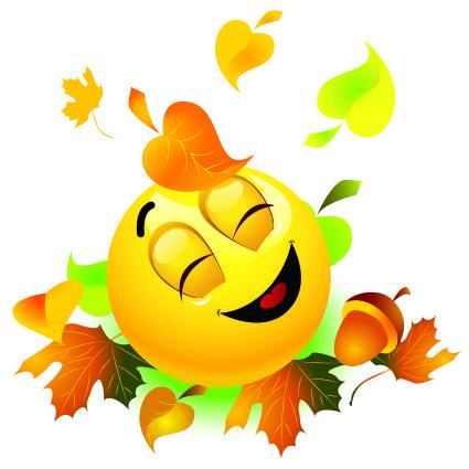 Картинки по запросу смайлик осень