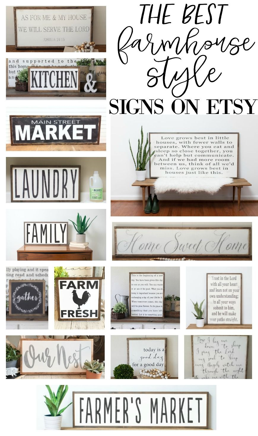 The Best Farmhouse Style Signs on Etsy Country farmhouse