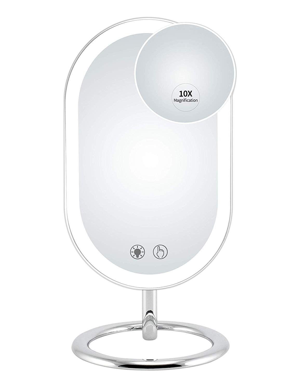 Fugetek Premium Lighted Vanity Makeup Mirror 56 Leds 3 Color Modes Usb Or Rechargeable Battery In 2020 Makeup Mirror With Lights Lighted Vanity Mirror Makeup Mirror