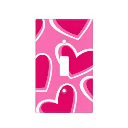 Love hearts light switch cover - Saint Valentine\'s Day gift idea ...