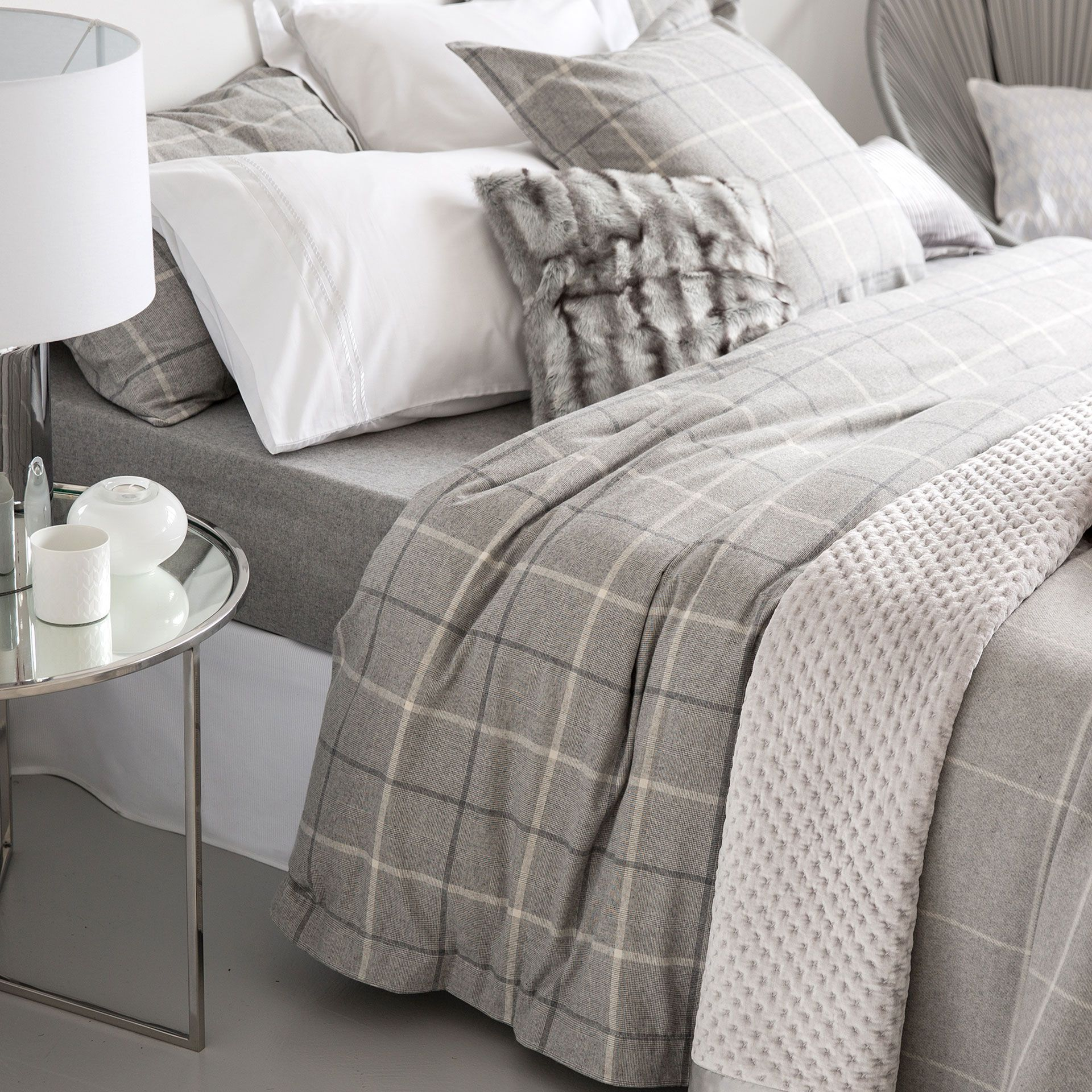 Bed And Bath Bettwäsche Flannel Checked Bedding Bed Linen Bedroom Zara Home