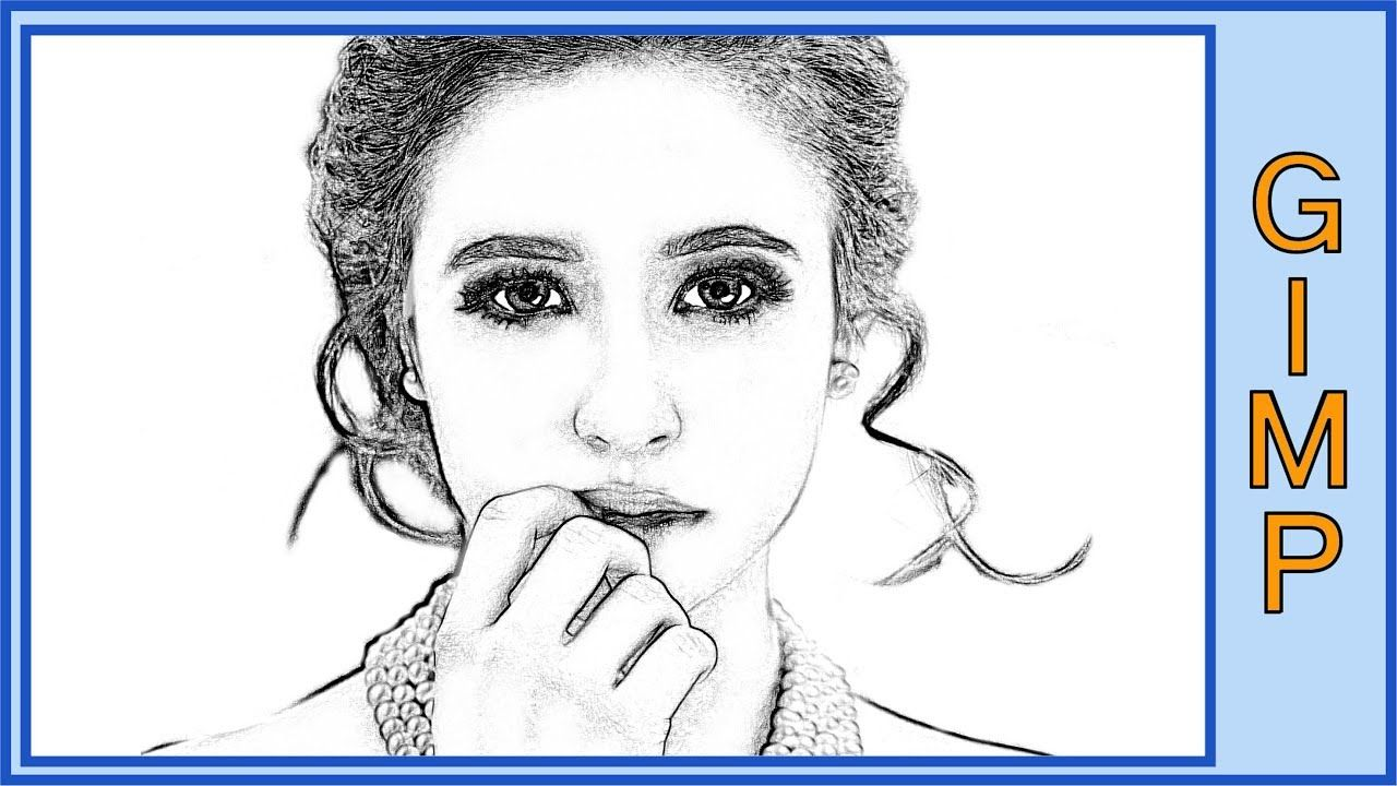 Gimp how to change a photo into a pencil drawing youtube