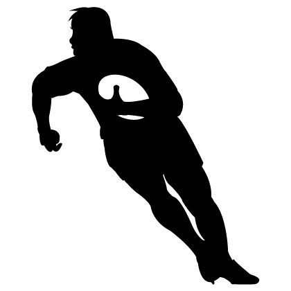 Rugby Kicker Silhouette Google Search Cricut Rugby