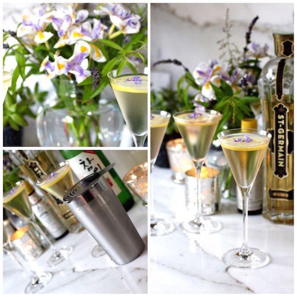 Sublime Franco-Korean Elderflower Soju Martini