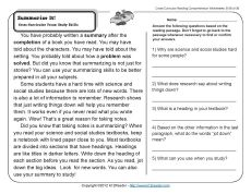 Summarizing Worksheets For 3rd Grade - free summarizing worksheets ...