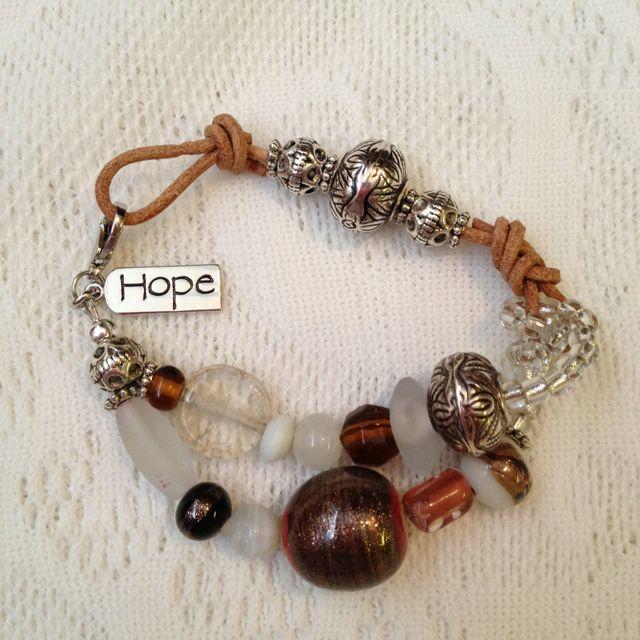'HOPE' Cancer Awareness bracelet