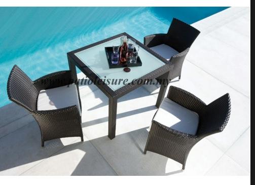 Mbm Dining Set In Mocha Terrace Furniture Pool Furniture