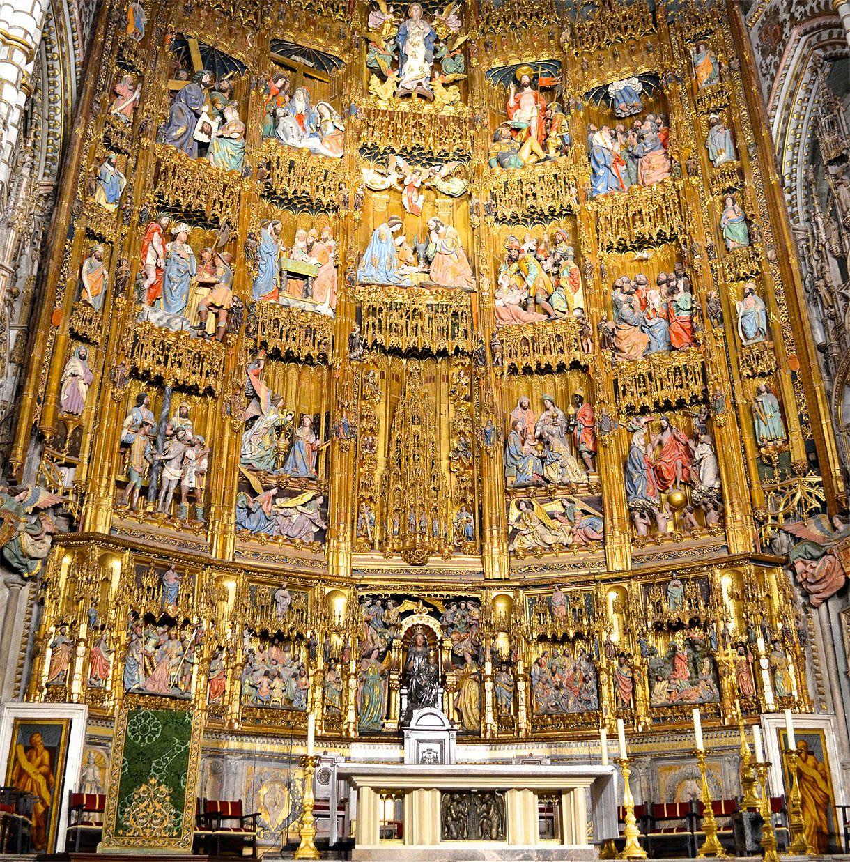 Resultado de imagen de retablo mayor catedral de toledo