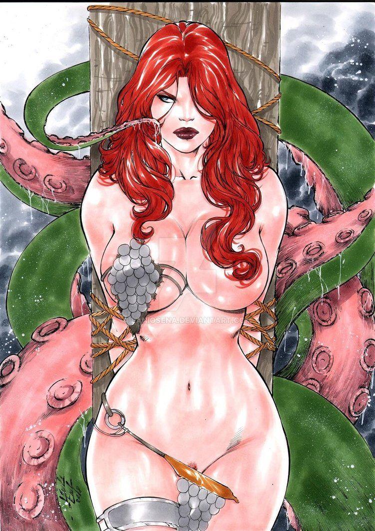 Comic books in jungle woman