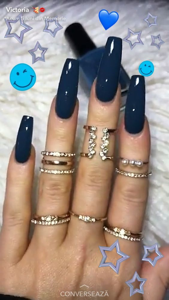 acrylic nail design fall