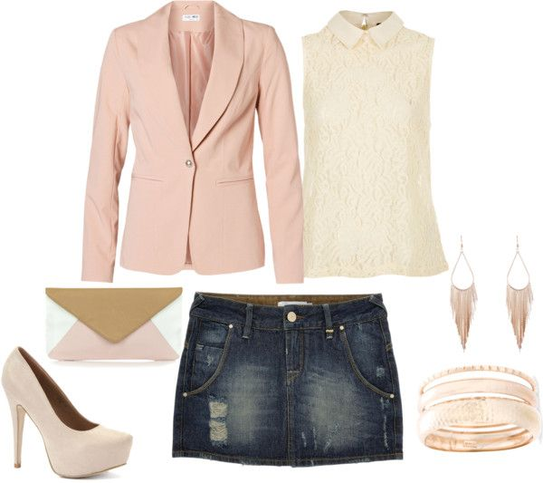 """""""cream and blush"""" by dianacnyc on Polyvore"""