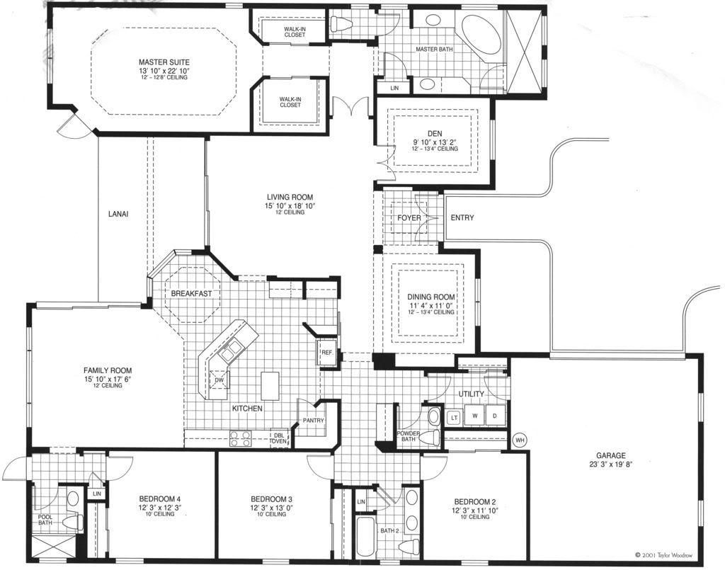 Master bathroom floor plans room 3 5 bathrooms 3228 for Large master bathroom floor plans