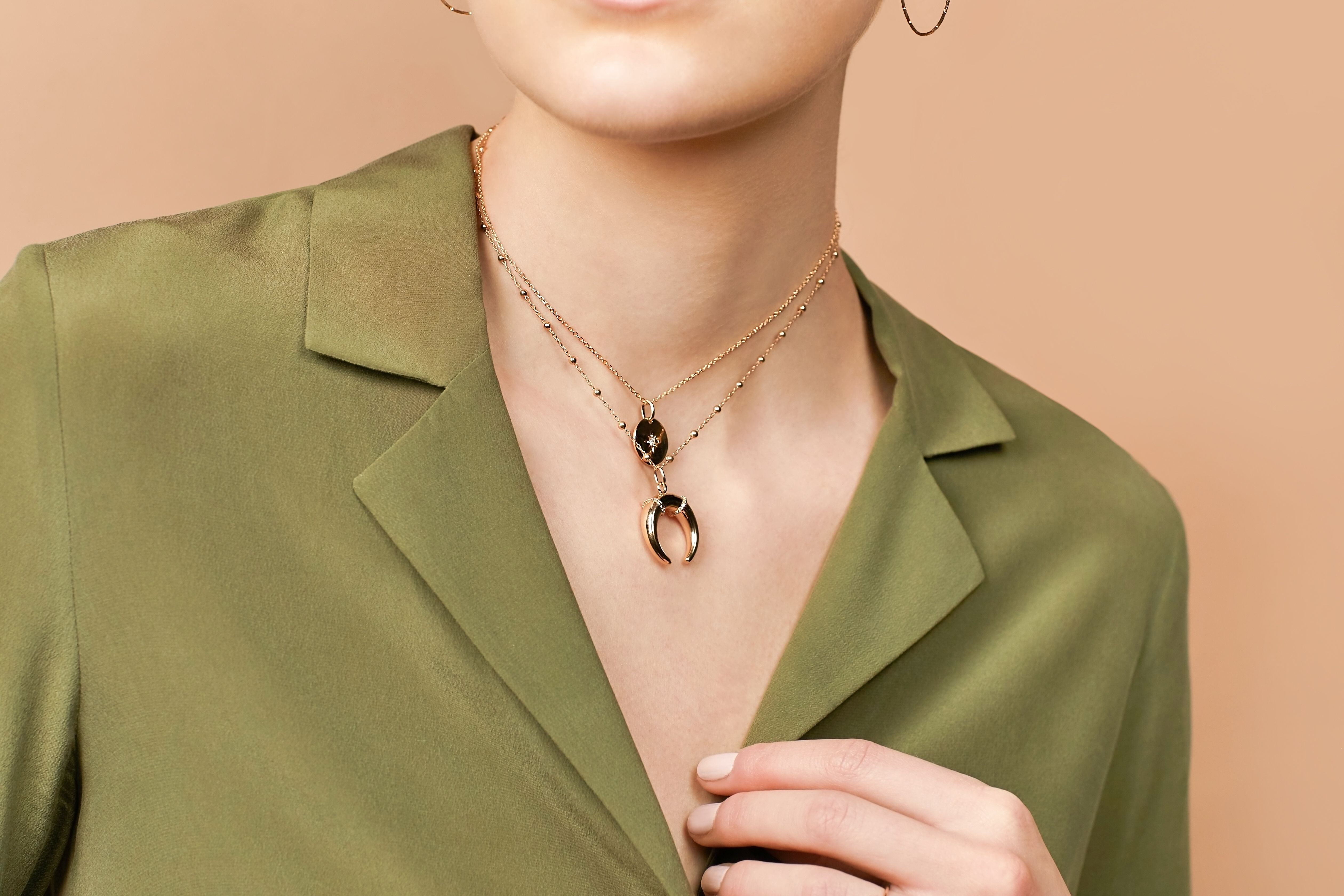 95ca5c63c51 Brooke necklace and Stella necklace #analuisany #analuisa #jewelry  #layerednecklace #goldjewelry #ootd. Find this Pin and more on Layered  Necklaces ...