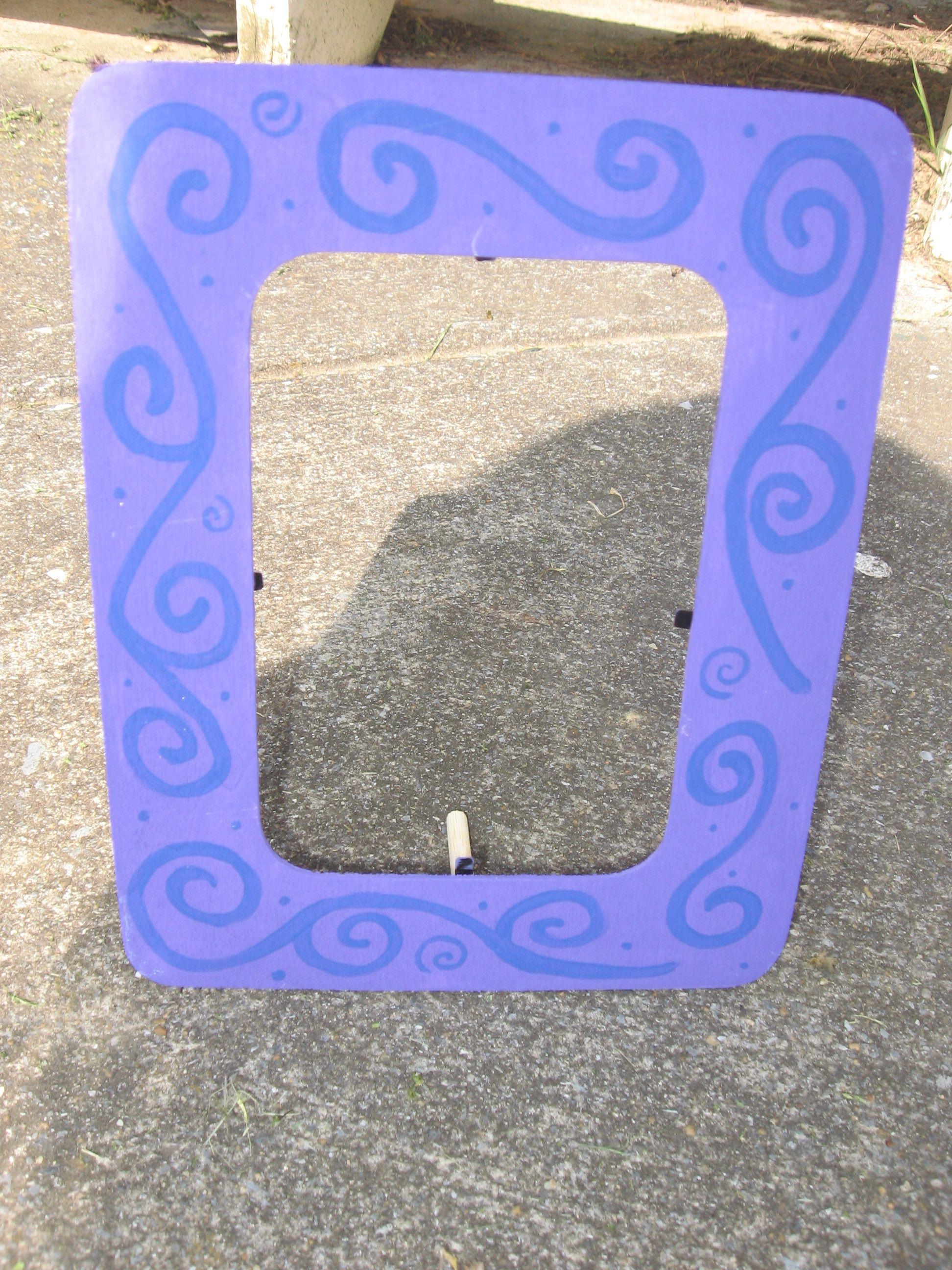 Purple swirled frame!