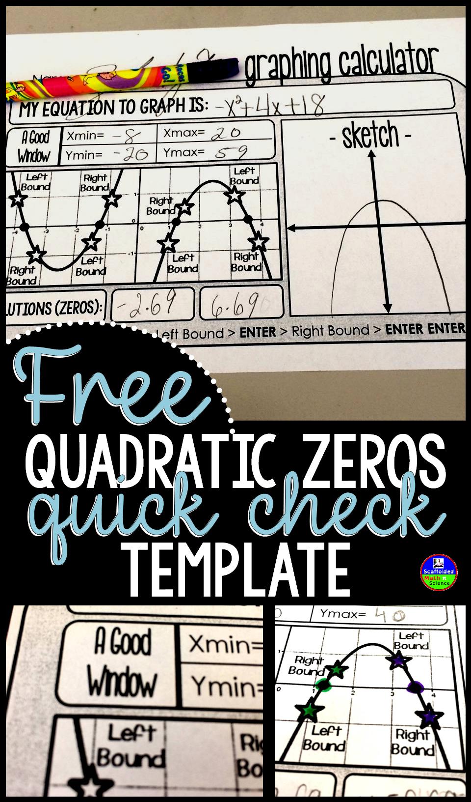 Free Quadratic Zeros QuickCheck Template  The OJays Zero And