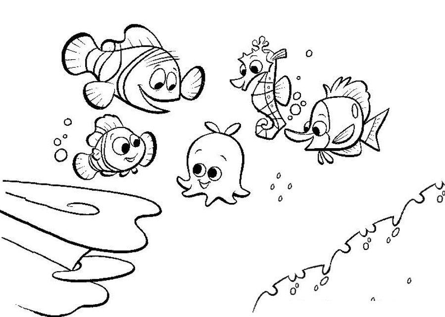 Coloriage En Ligne Nemo.Pour Imprimer Ce Coloriage Gratuit Coloriage Le Monde De Nemo 17