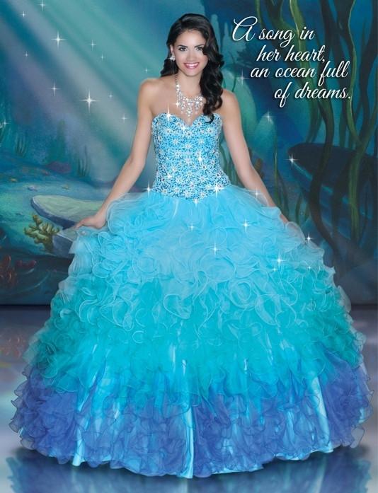 8cab0f414e Disney Royal Ball Quinceanera Dress Ariel Style 41044 in 2019 ...