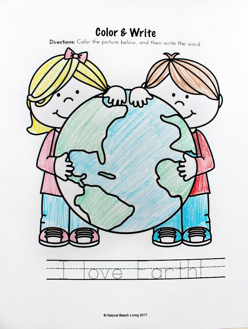 Earth Day Activities For Preschool Kindergarten Free Printables Natural Beach Living Earth Day Worksheets Earth Day Coloring Pages Kindergarten Worksheets Free Printables [ 1060 x 800 Pixel ]