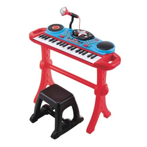 Elc Keyboard And Stool Red Stool Red Kids Toys