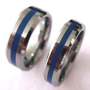 86 Tungsten Thin Blue Line Ring Http Mypolicestuff