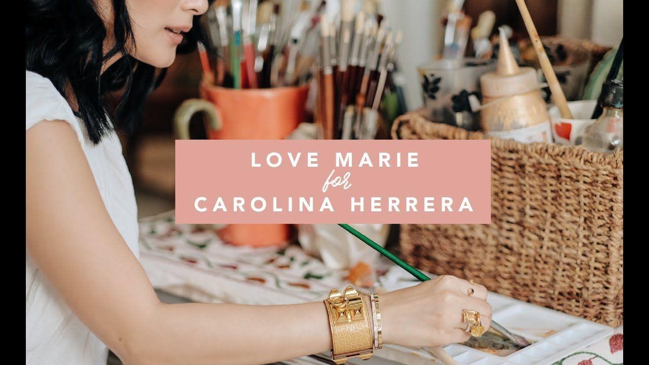 HOW I PAINT MY BAGS: LOVE MARIE FOR CAROLINA HERRERA ...