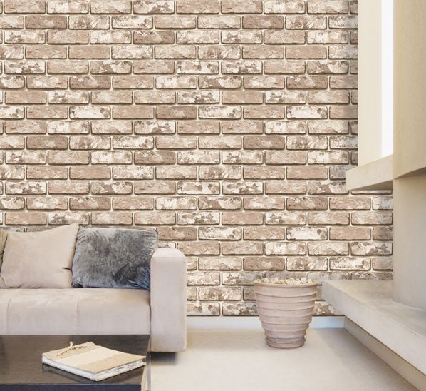 Vintage Shabby Brick Deco Vinyl Self Adhesive Peel Stick Wallpaper 538 Sq Feet