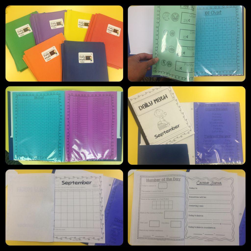 Daily Math Folders