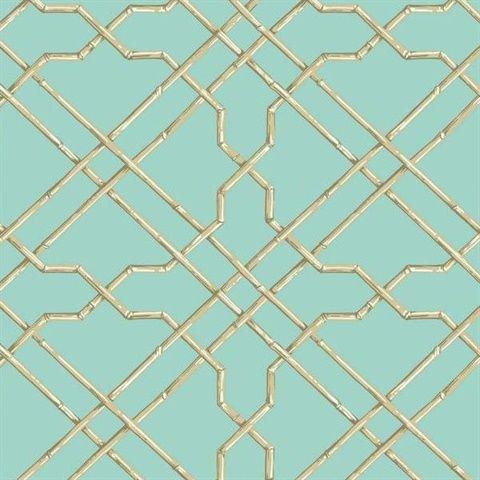 Light Blue Bamboo Trellis Wallpaper Trellis Wallpaper