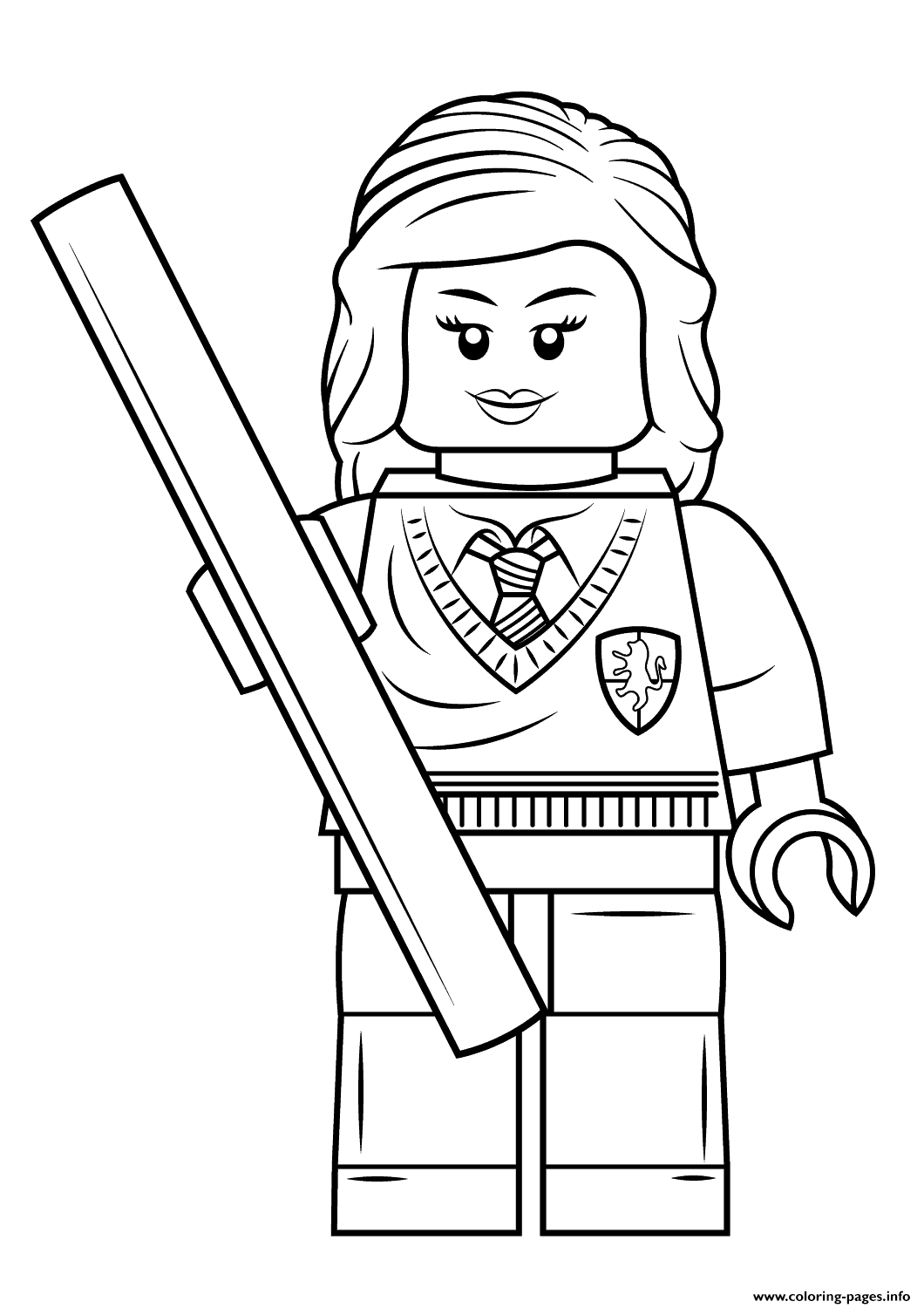 Print Lego Hermione Granger Harry Potter Coloring Pages Hermione