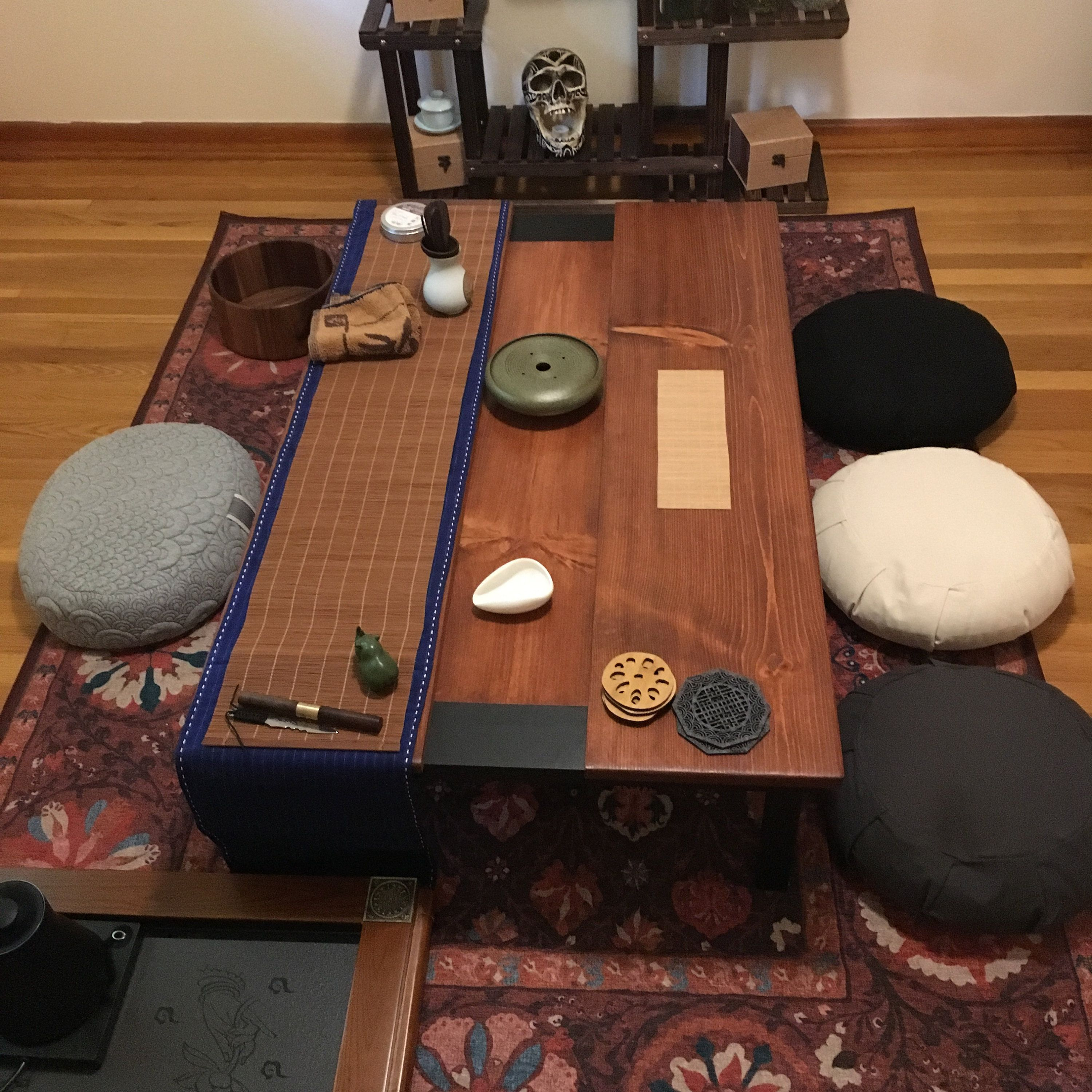 Chabudai Dining Table With Recessed Center 8 Sizes Several Etsy
