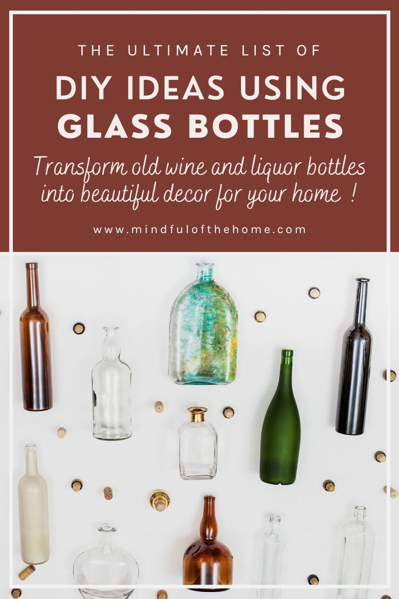 16 Diy Home Decor Ideas Using Old Glass Bottles In 2020 Glass Bottle Diy Old Glass Bottles Diy Glass