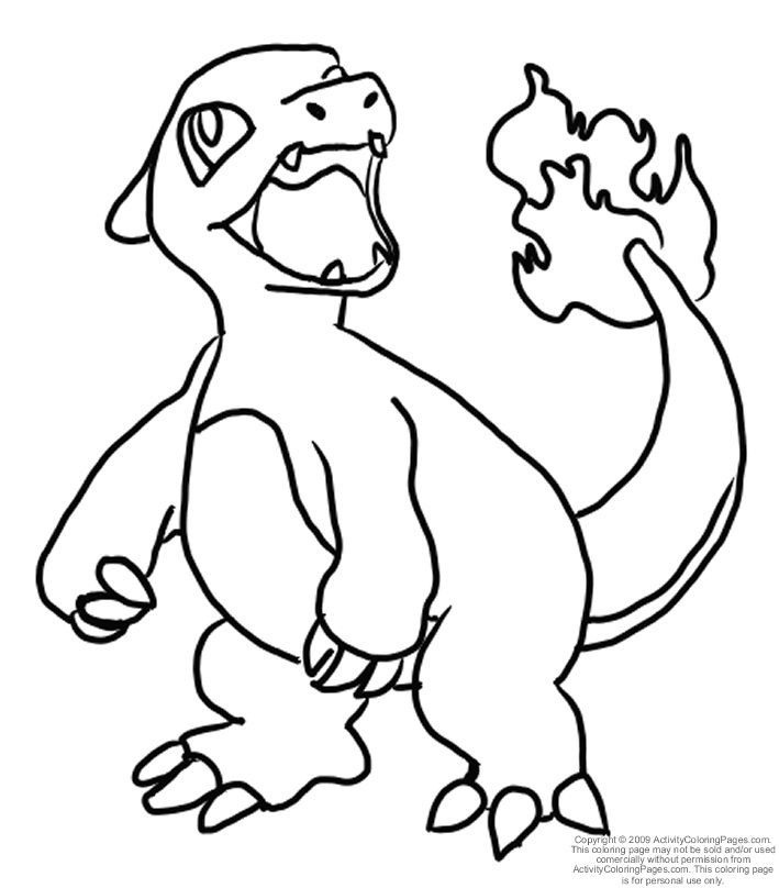 pokemon coloring pages charmeleon pokemon coloring pages dltk kids ... - Pokemon Charmander Coloring Pages