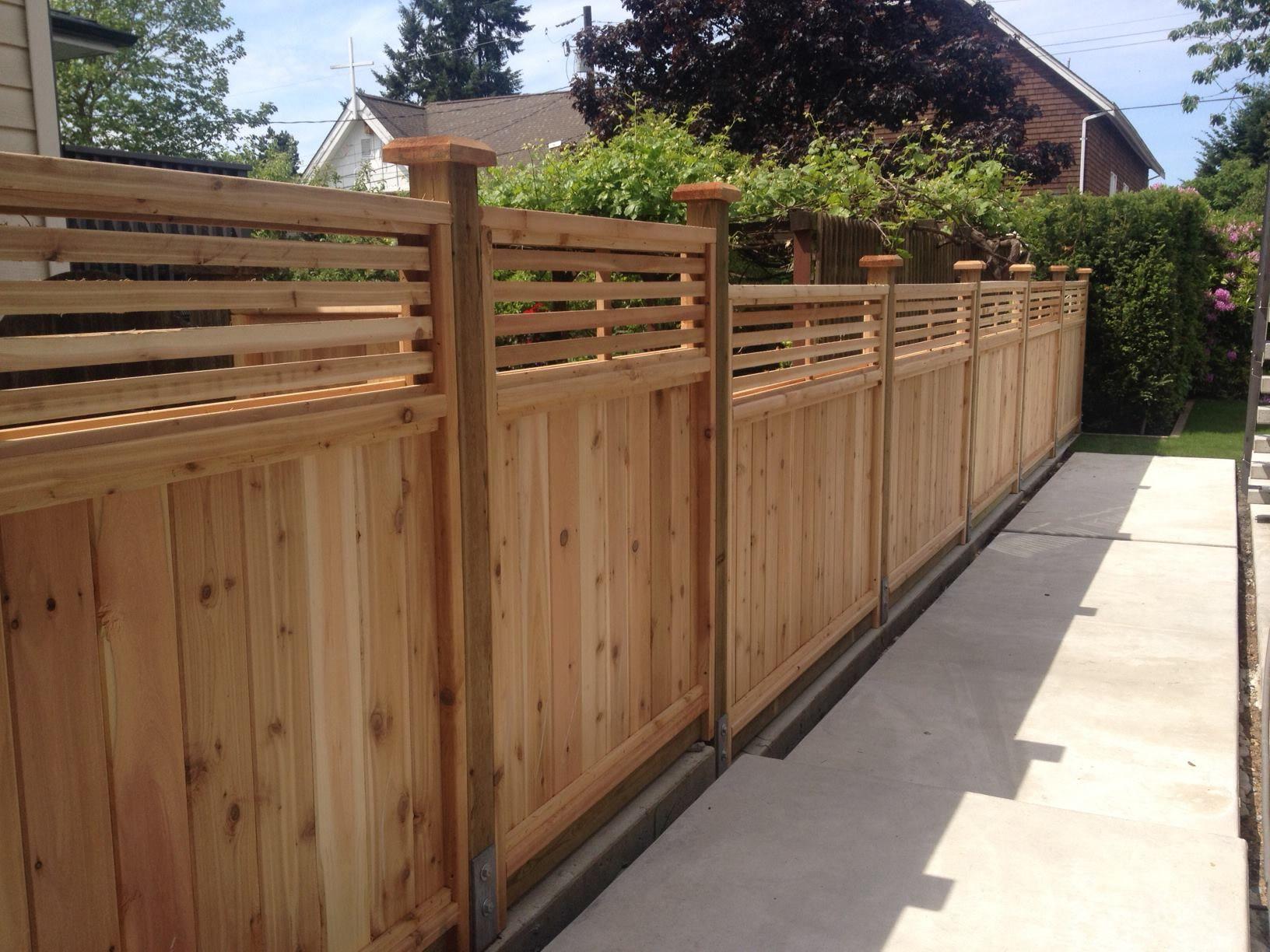 A Beautiful Venetian Cedar Fence Panel Installation In North