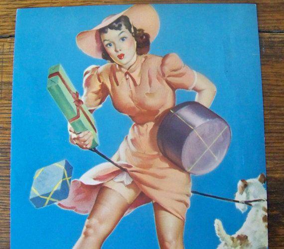 Pin Up Calendar Vintage : Vintage pin up calendar girl s elvgren by