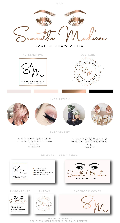 Samantha Madison Kit Artist branding, Lashes logo
