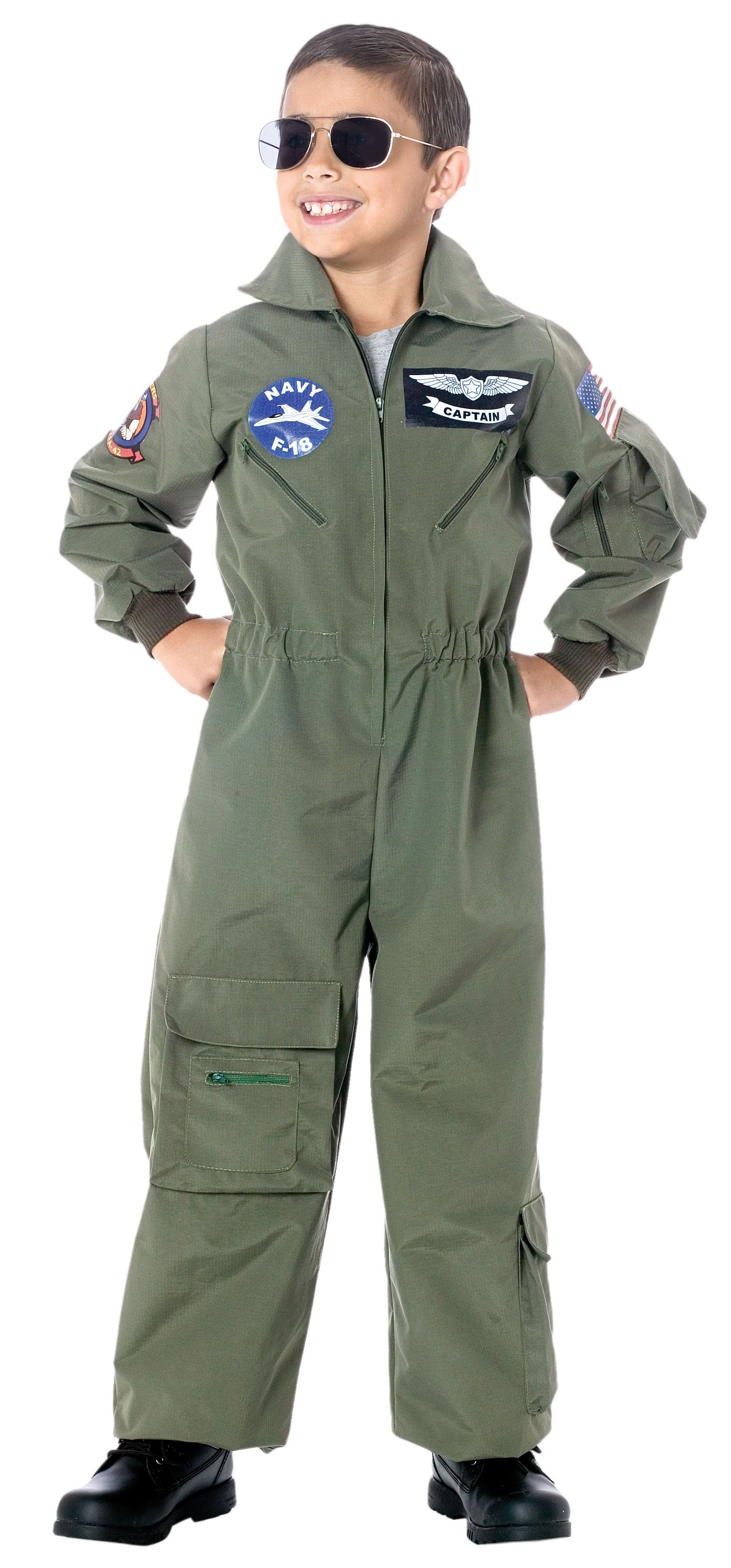 Children's Air Force Pilot Costume Pilot uniform, Kids