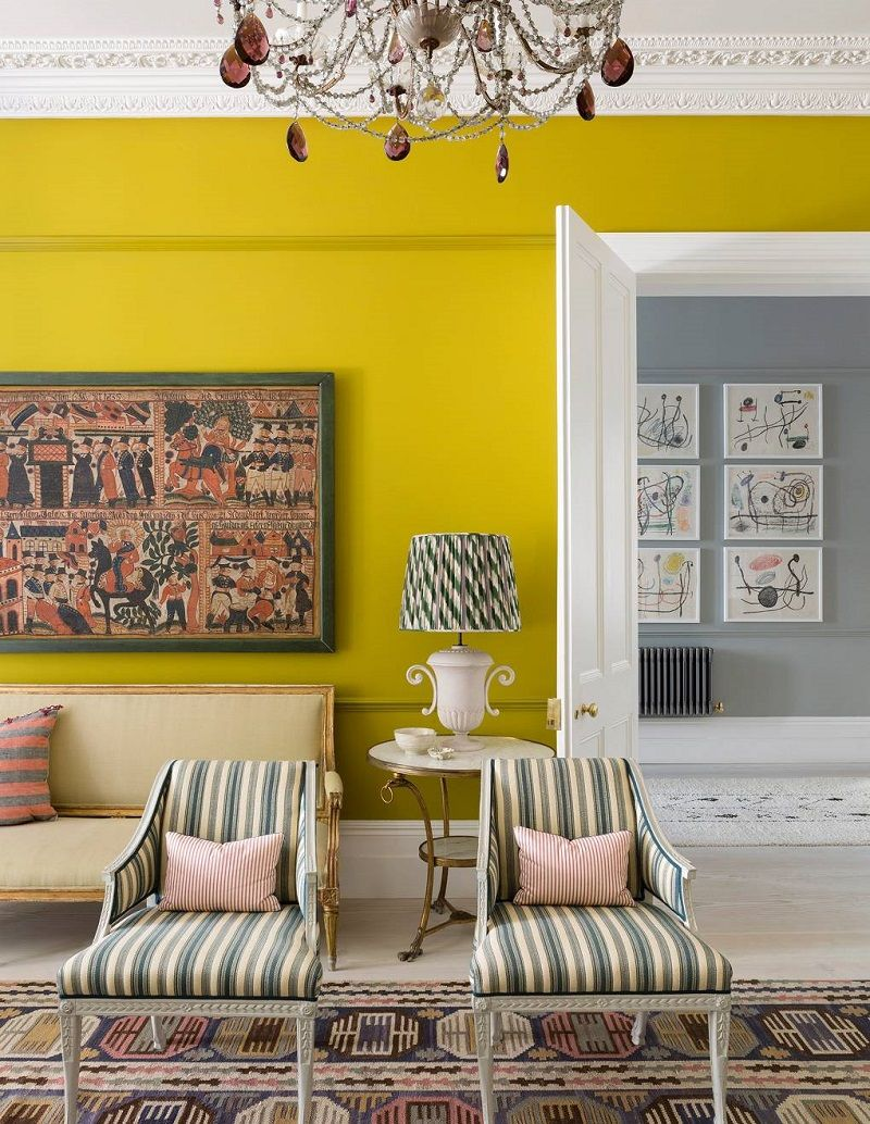 Scandinavian Design Trends At A 1860s Italianate House In London Covet Edition Scandinavian Design Dining Room Blue London House