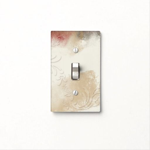 Gold Red Gray Beautiful Light Switch Cover