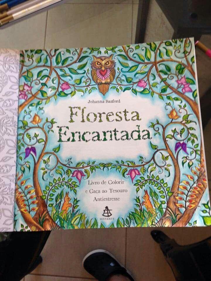 Floresta Encantada Livro De Colorir