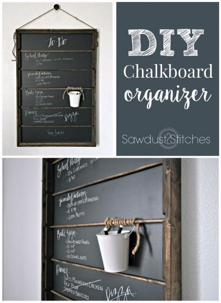 How to build a Chalkboard Organizer with step-by-step instructions by Sawdust2Stitches