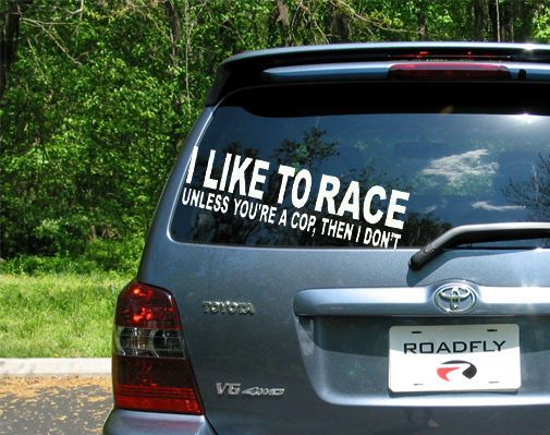 8 i like to race vinyl sticker decal funny car bumper sticker jdm ricer euro